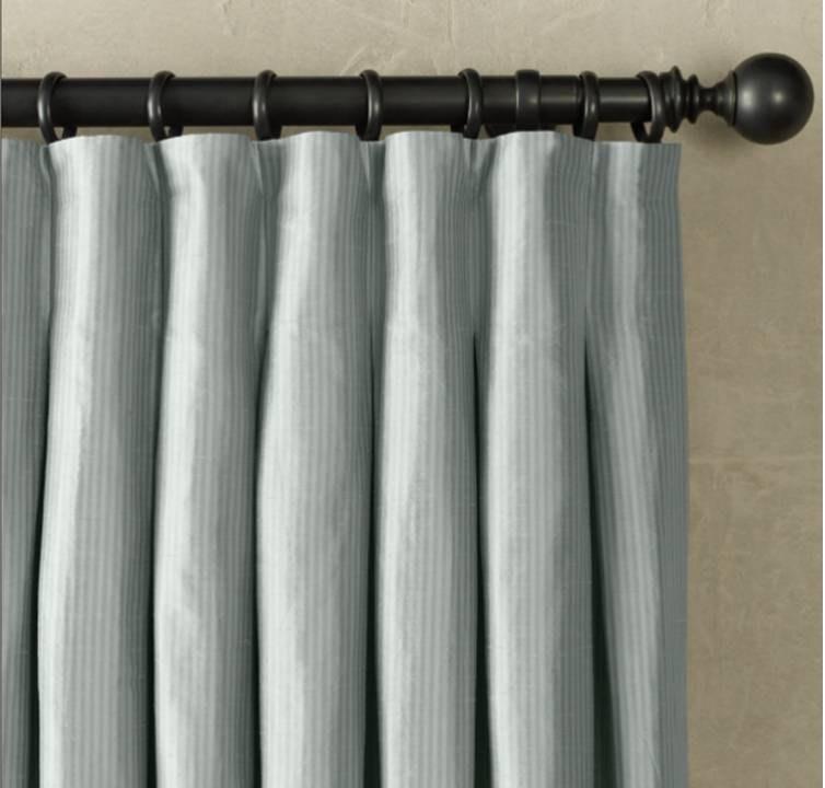 Restoration Hardware Thai Silk Inverted Pleat Drapery Panel