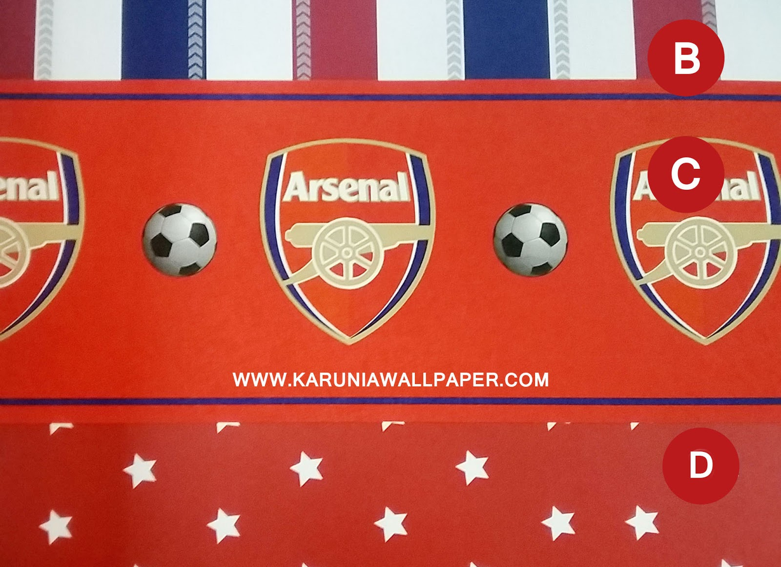 jual wallpaper motif arsenal karuniawallpaper