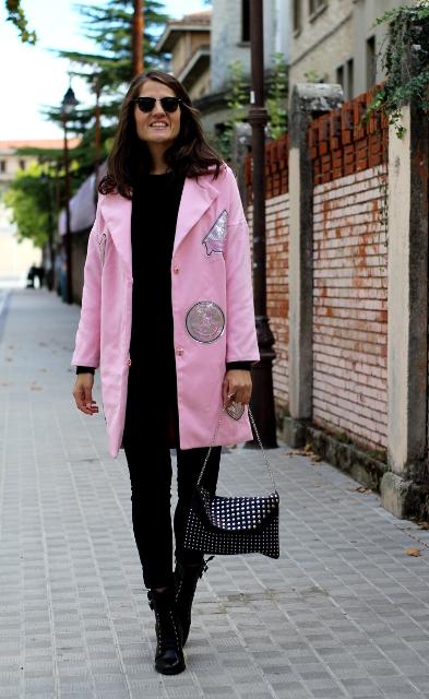 Abrigo rosa