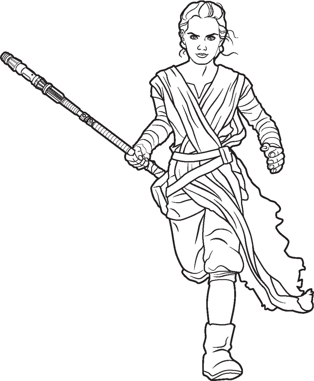 rey and finn coloring pages - photo#6