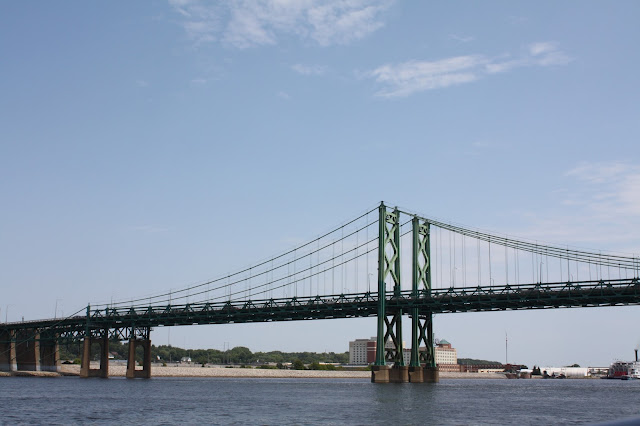 Bridge view from the Channel Cat on the Mississippi River in the Quad Cities