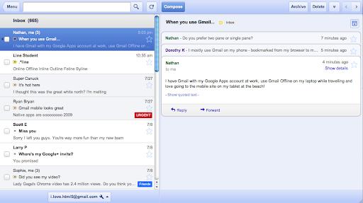 Gmail Offline Chrome App