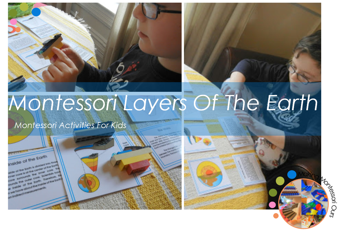 Montessori Layers Of The Earth Activities For Kids