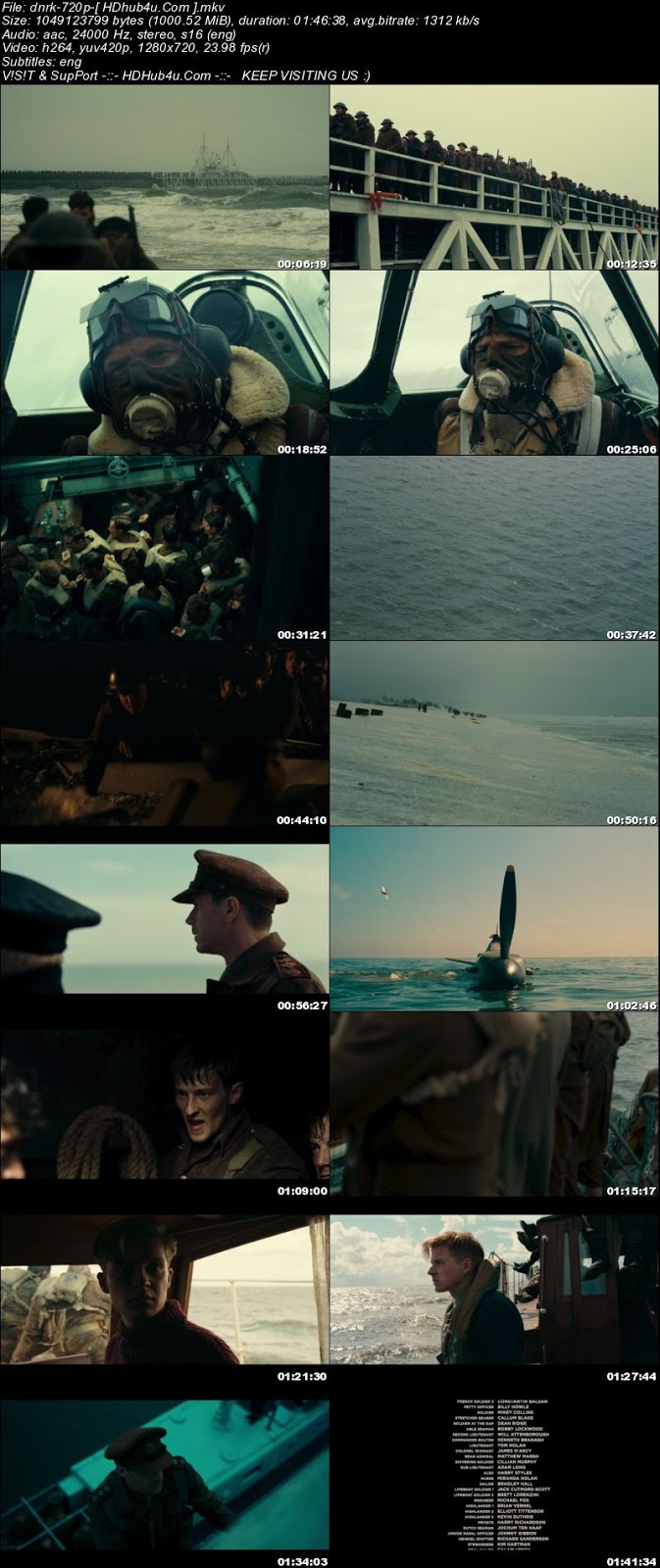 Dunkirk 2017 300MB English Movie 480p BRRip ESub Download