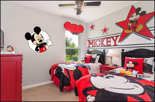 mickey mouse theme bedrooms decorating ideas-mikey mouse kids theme bedrooms