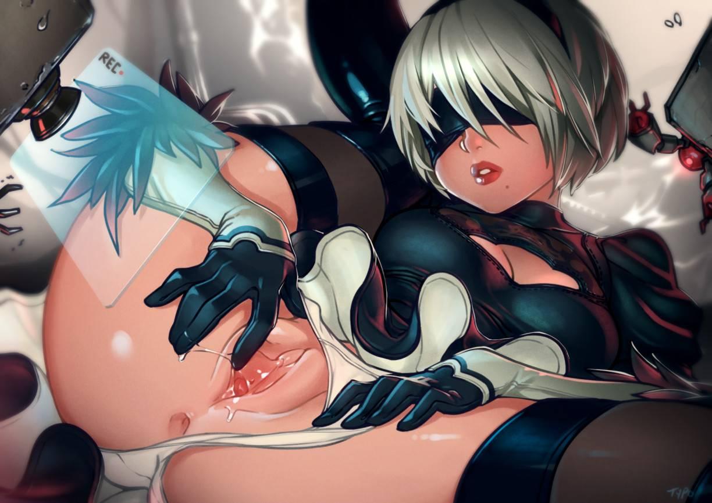 gambar hentai karakter game nier automata,2b.gambar animasi porno ngentot,toket payudara gede,bokong seksi,nsfw art