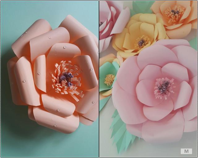 Fon kartondan çiçek yapımı