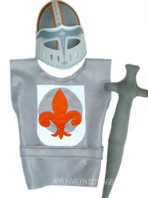 Easy Halloween DIY costume for kids - a homemade knight costume