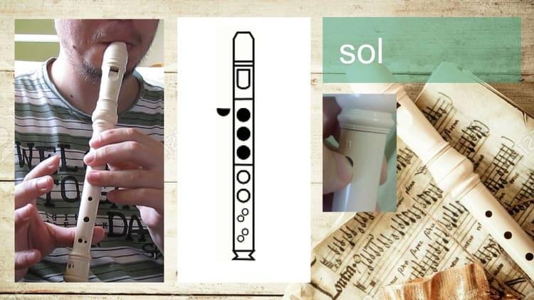 Sol - Flauta doce soprano germânica