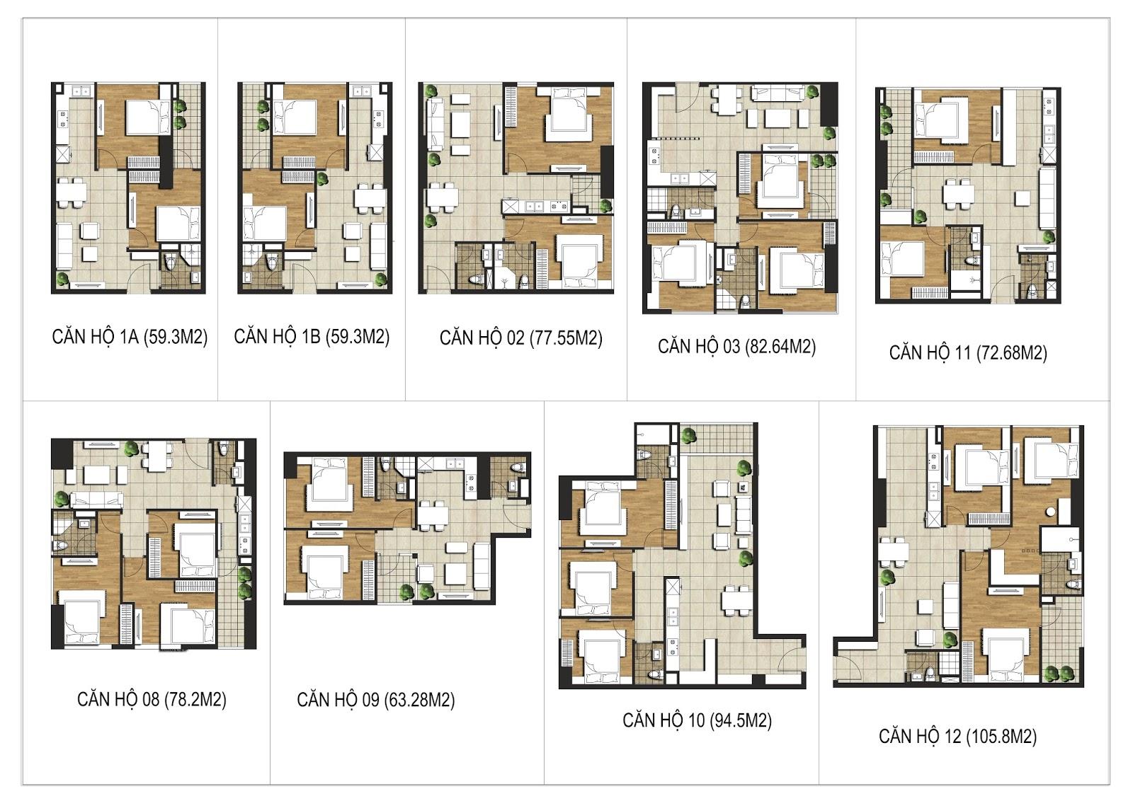 9 loại căn hộ của dự án FLC Star Tower