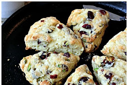 Dried Cherry Pistachio Scones