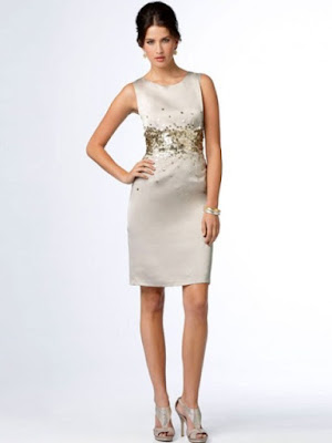 Model Gaun Pesta Pendek Tanpa Lengan