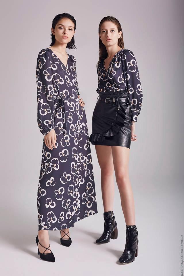 Moda otoño invierno 2019 ropa de mujer elegante y femenina. Vestidos invierno 2019.