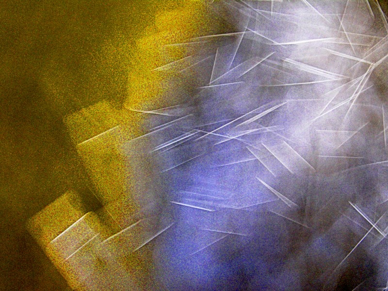 Camera-Movement Light-Painting Abstract Photograph by Rick Doble.