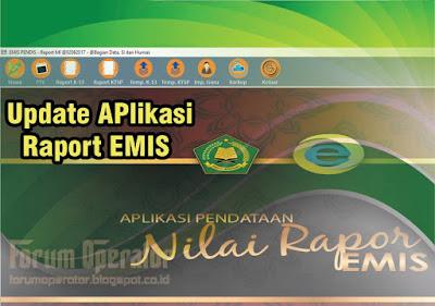 Aplikasi Raport Emis Terbaru Update 6 Juni 2017