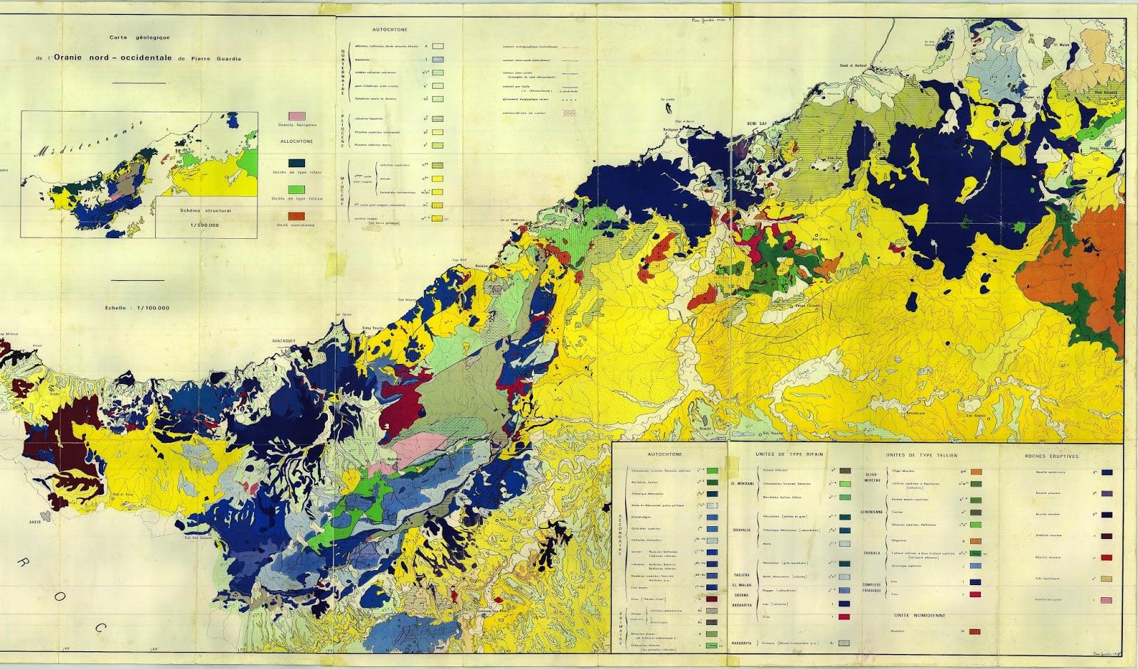 Carte Geologique De Lalgerie Du Nord.Decouverte