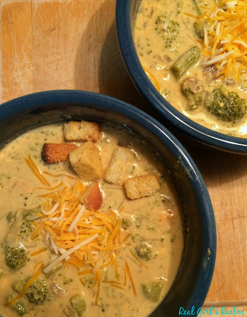 Make this easy broccoli and cheese soup in the crockpot!