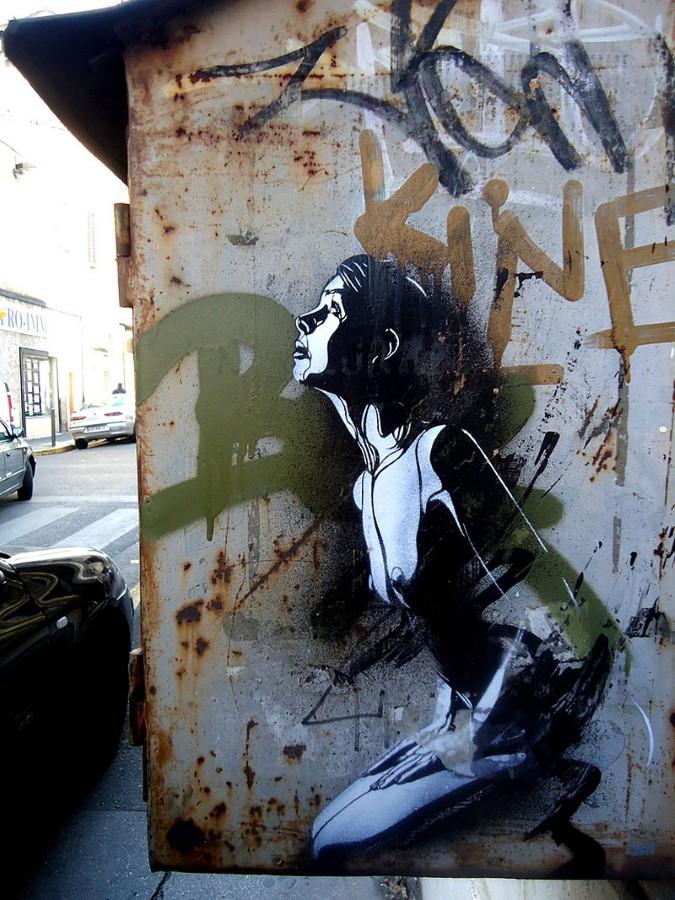 Уличное искусство Кристиана Гуеми (Christian Guémy aka C215) 27