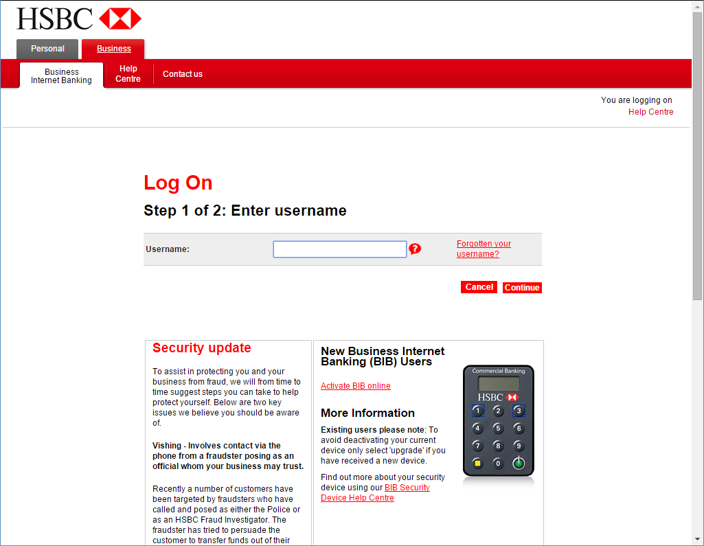 hsbc india online banking login
