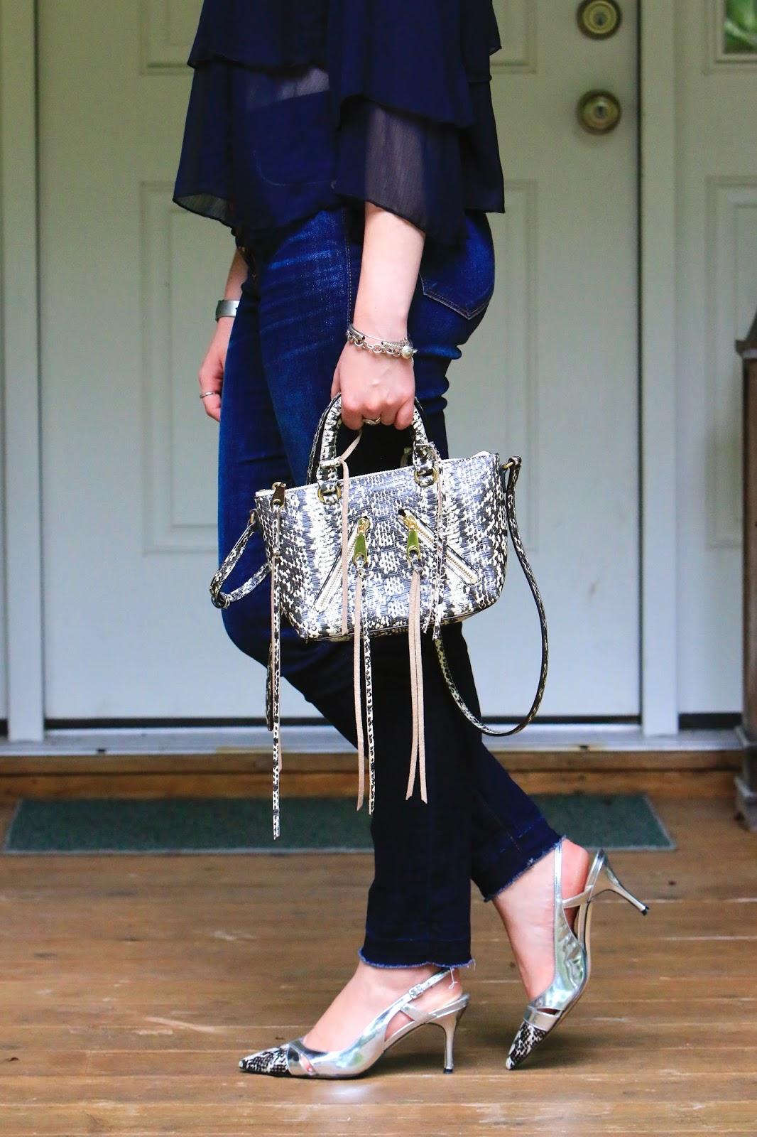 snakeskin rebecca minkoff bag