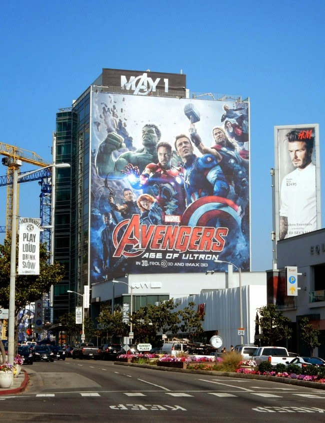 Giant Avengers Age of Ultron billboard