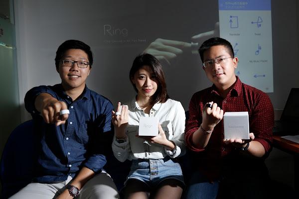 Ring ZERO台灣行銷團隊(左起)賴政宇、小島怜子、丁伯村,攝影:侯俊偉