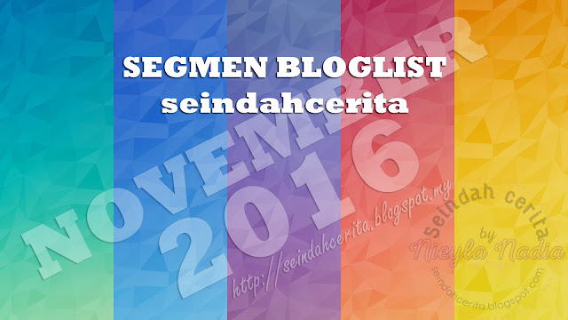 Segmen Bloglist November Blog Seindahcerita