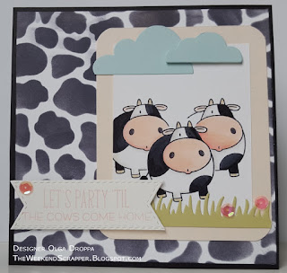 MFT Whole Herd Cows Card using MFTWSC269 sketch