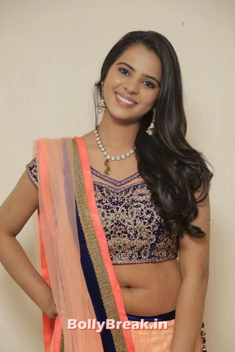Manasa Pictures, Actress Manasa hot Photos in Backless Choli & Lehenga