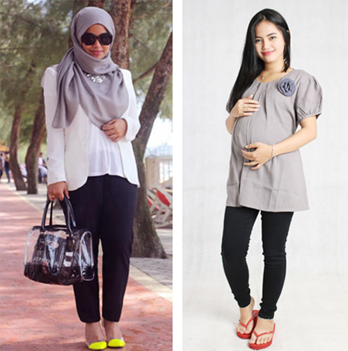 model baju kerja hamil