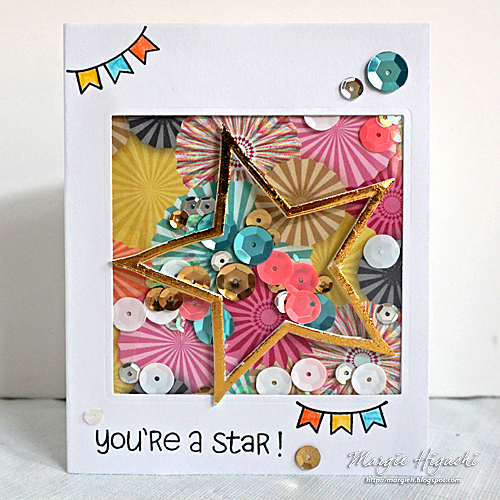 Scrapbook Adhesives by 3L: You're A Star Shaker Card from Creativation 2017