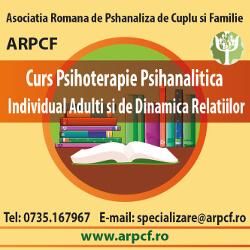 Curs de formare in specialitatea psihoterapie psihanalitica adulti individual si dinamica relatiilor