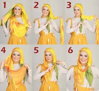 Lebih Fresh dengan Tutorial Hijab Warna Cerah