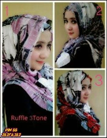 Aneka Hijab Ruffle Instan 2016