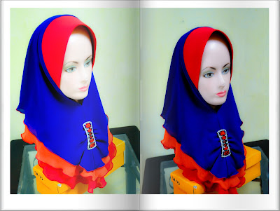 Tudung 3 layer murah