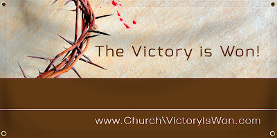 The Victory is Won Easter Banner | Banners.com