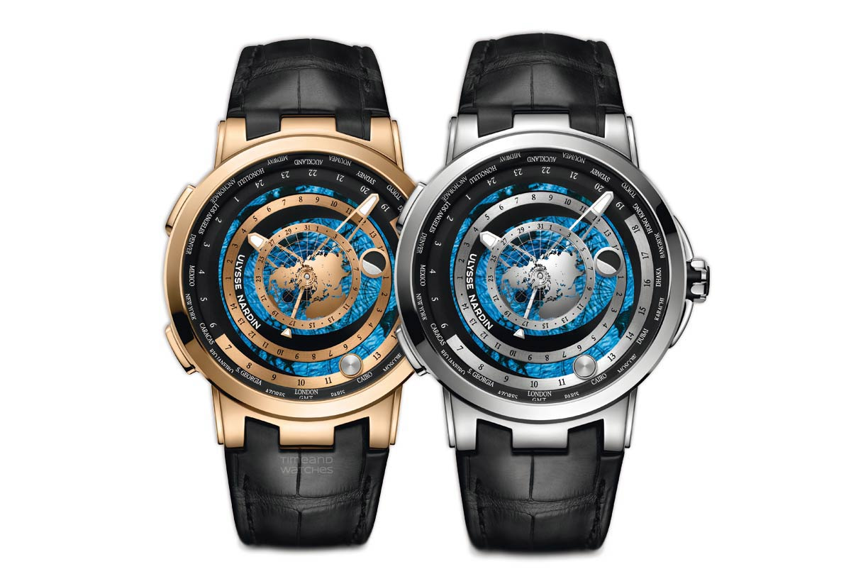 Ulysse nardin moonstruck worldtimer time and watches available in a 46 mm rose gold or platinum case this new model recreates the moons orbit and the apparent movement of the sun around the globe as they are gumiabroncs Images