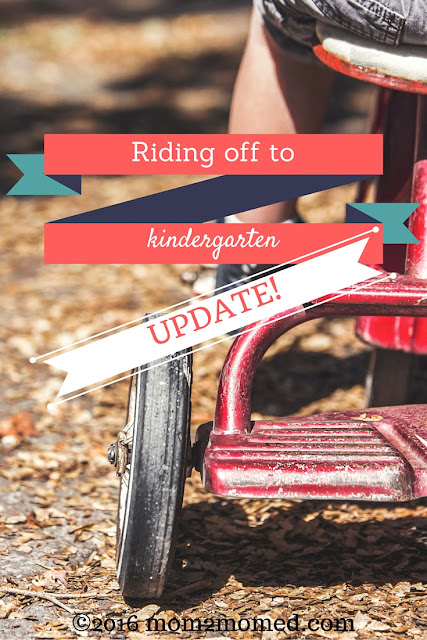 Mom2MomEd Blog: UPDATE to Riding off to Kindergarten