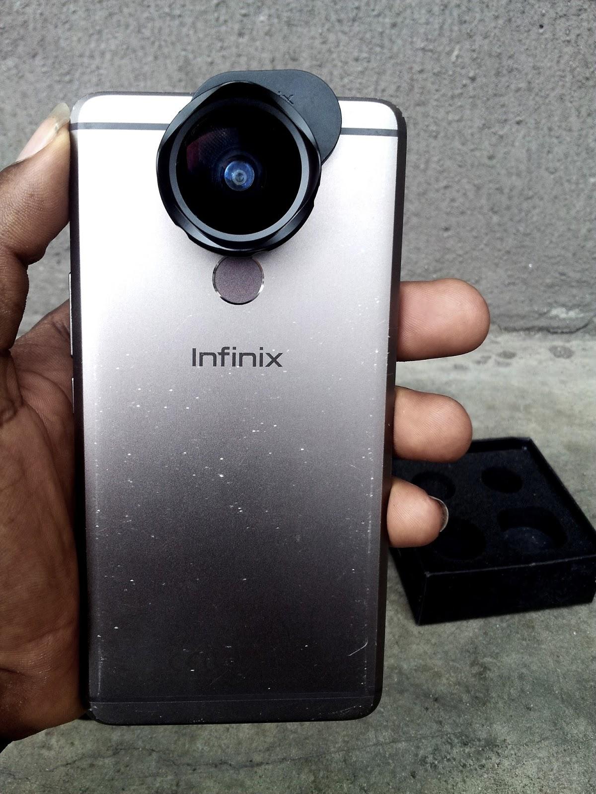 Rear View of Infinix Mobile Camera Lens On The Infinix Zero 4 Smart Phone