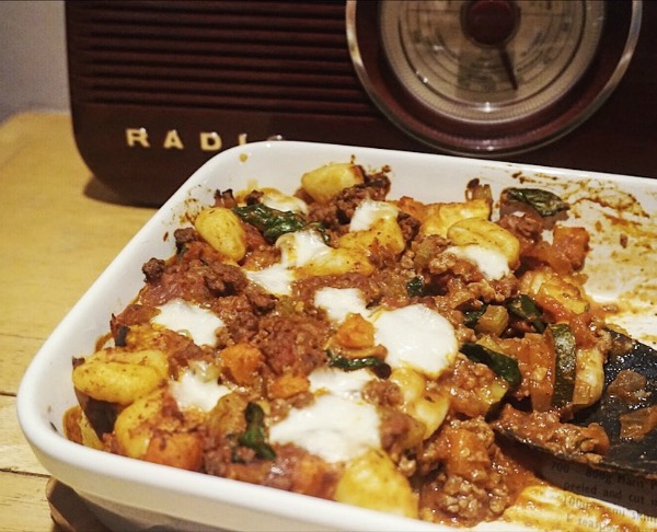 baked gnocchi with minced beef