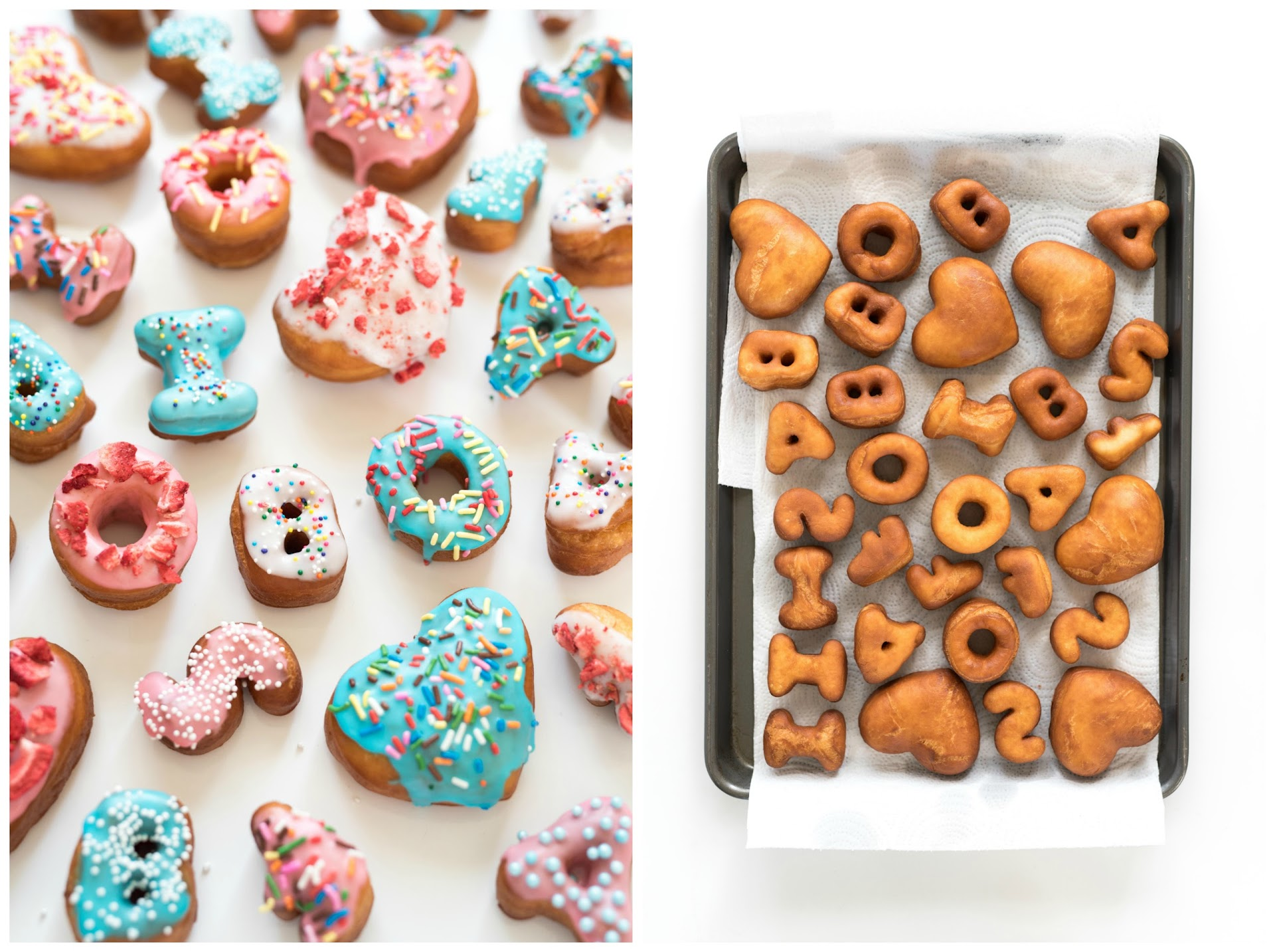 letter doughnuts, how to make a message with doughnuts, unique birthday gift idea, valentine's day, promposal, mother's day, father's day, food gift ideas, gifts for people who love doughnuts, donuts