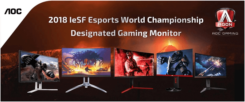 AOC is the official event monitor partner of the IeSF eSports World Champrionship