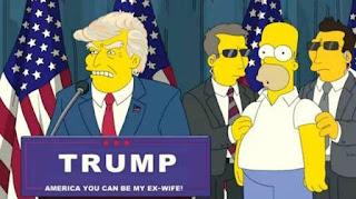 """En un capítulo de 2000, Lisa Simpsons se convierte en mandataria y sucede al magnate, que deja al país en """"quiebra"""""""