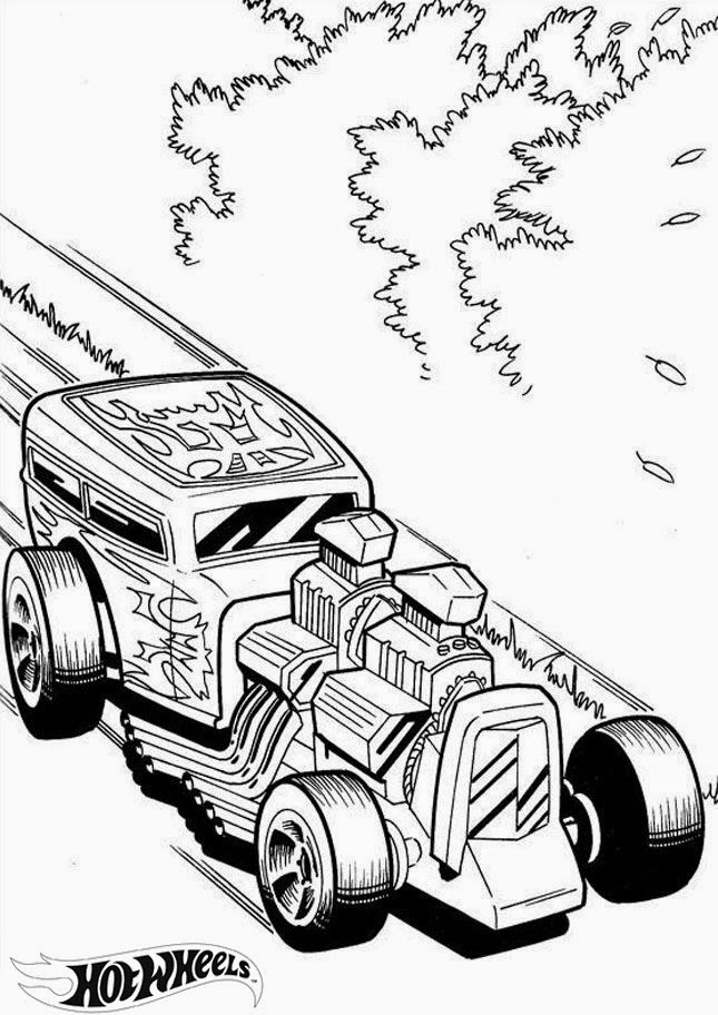 Hot Wheels Coloring Pages 39