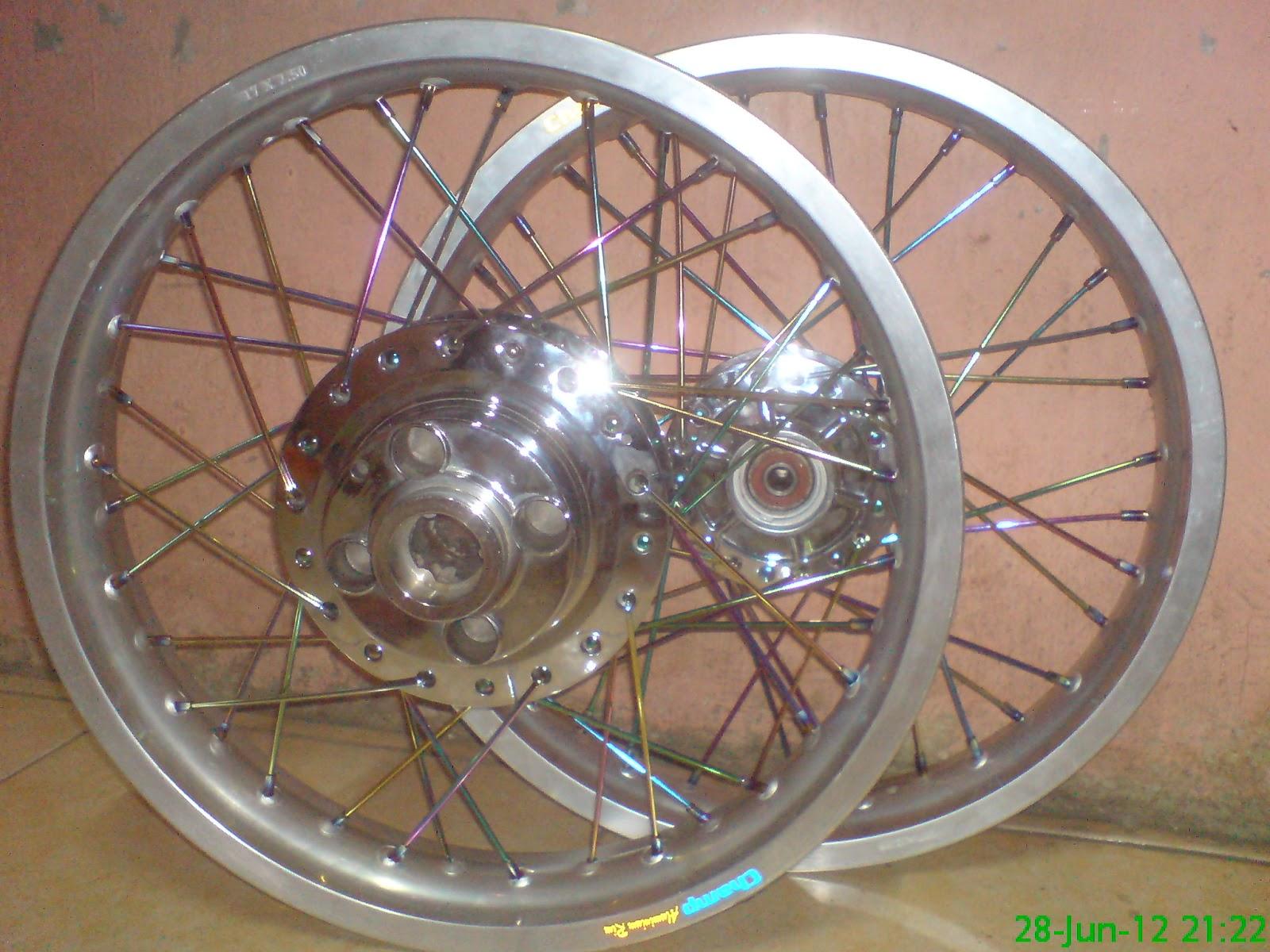Lebar Dengan Tromol GL Pro Dan Ruji Pelangi Variasi Sepeda Motor
