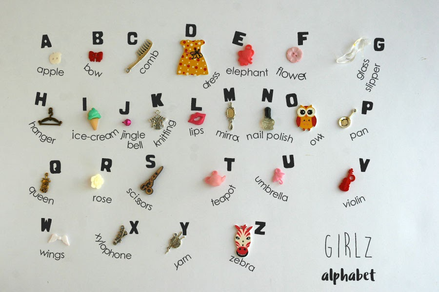Theme ABC alphabet miniature objects boy girl by TomToy