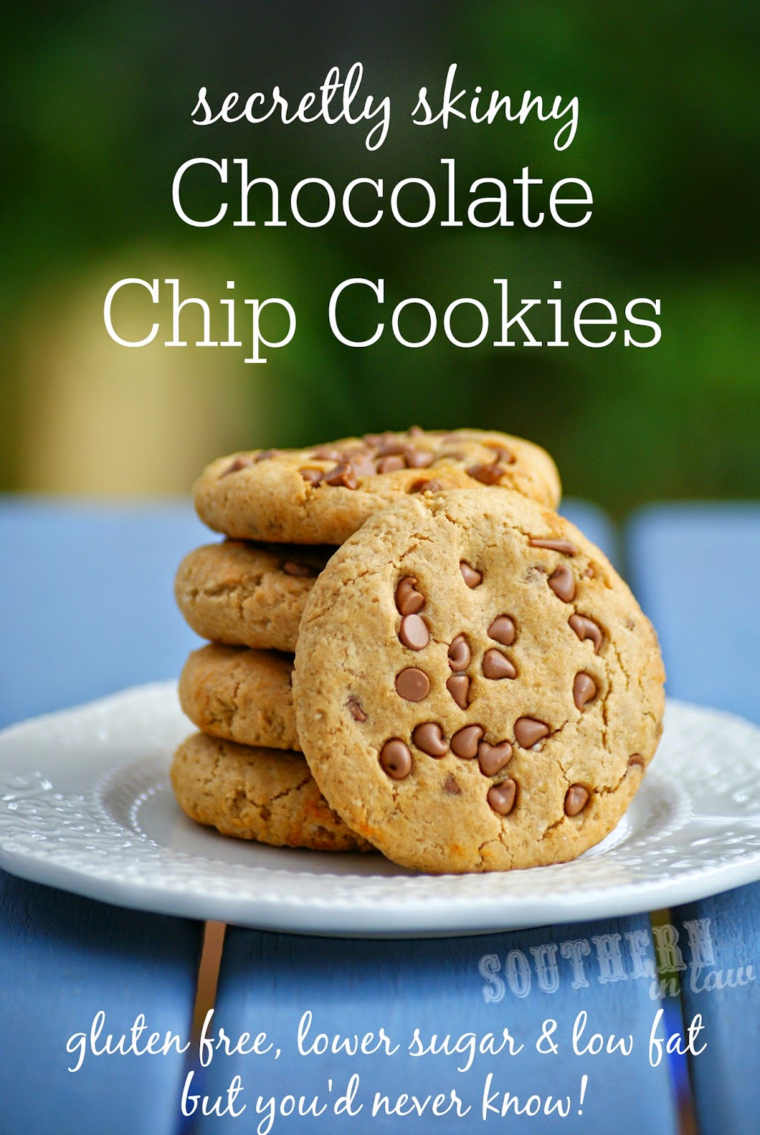 Secretly Skinny Chocolate Chip Cookies Recipe - gluten free, low fat, low sugar, healthy