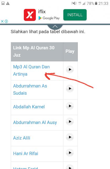 Cara Download Al Quran MP3 30 Juzuk Dan Tafsirannya Dalam Bahasa Melayu