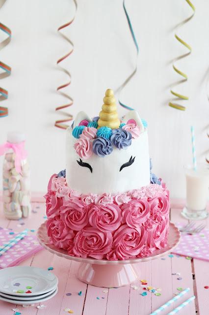 Cómo hacer una tarta unicornio