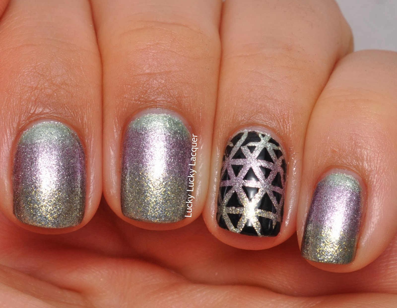 Lucky lucky lacquer 33 day challenge 3 colour gradient - Lucky color of the day ...